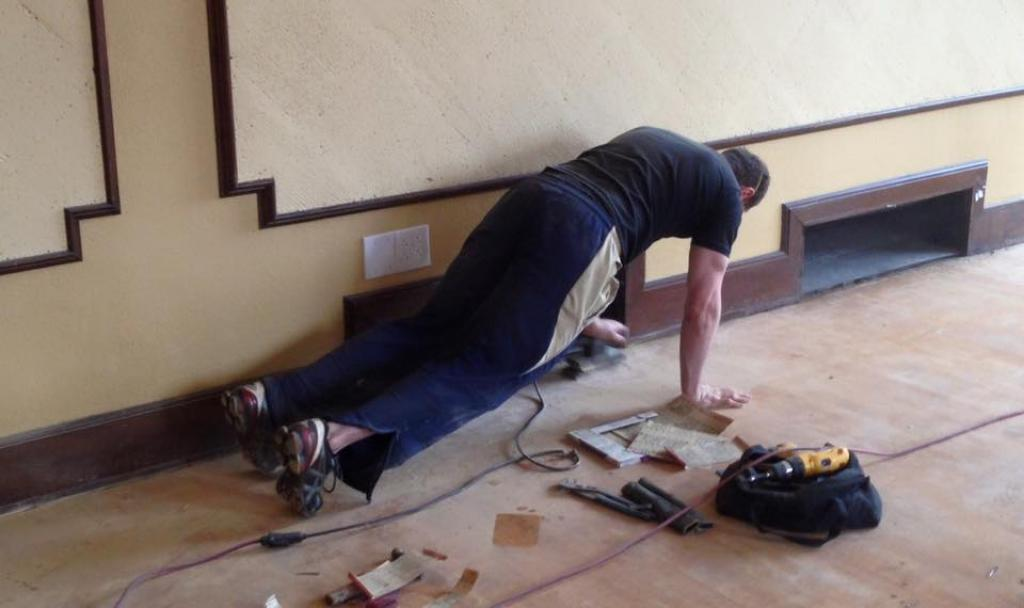 Kyle-Planking-Whilst-Sanding